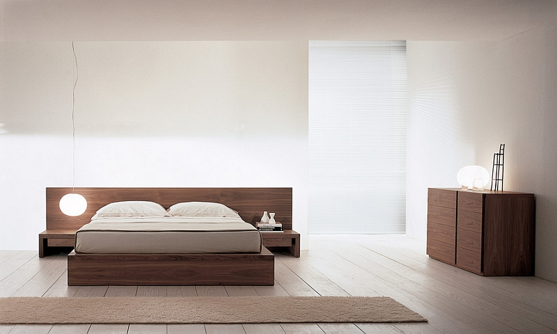 Minimal Asian style bedroom brings tranquility