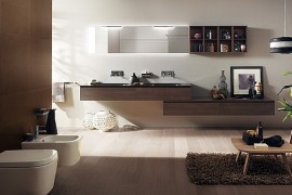 Minimalist Rivo Bathroom with Cool Floating Vanities