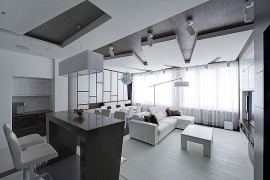 Minimalist apartment in Moscow