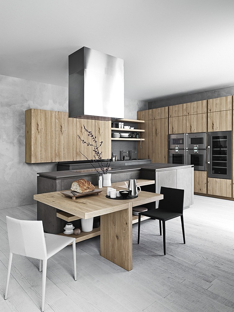Minimalist oak kitchen from Cesar