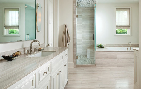 Modern details in a minimalist bathroom