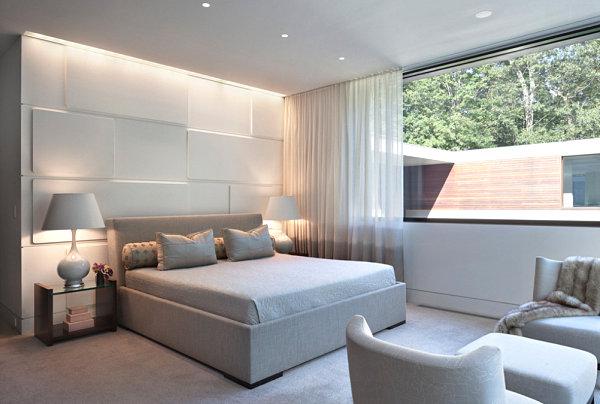 Mood lighting in a soothing bedroom