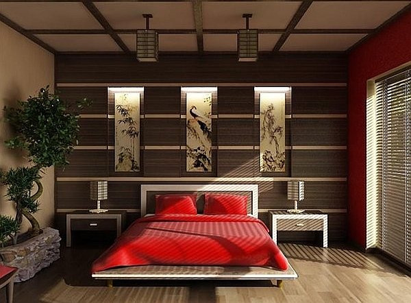 Nature plays an important part in the Asian themed interiors