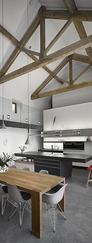 Old English Barn Transformed into a Modern Home