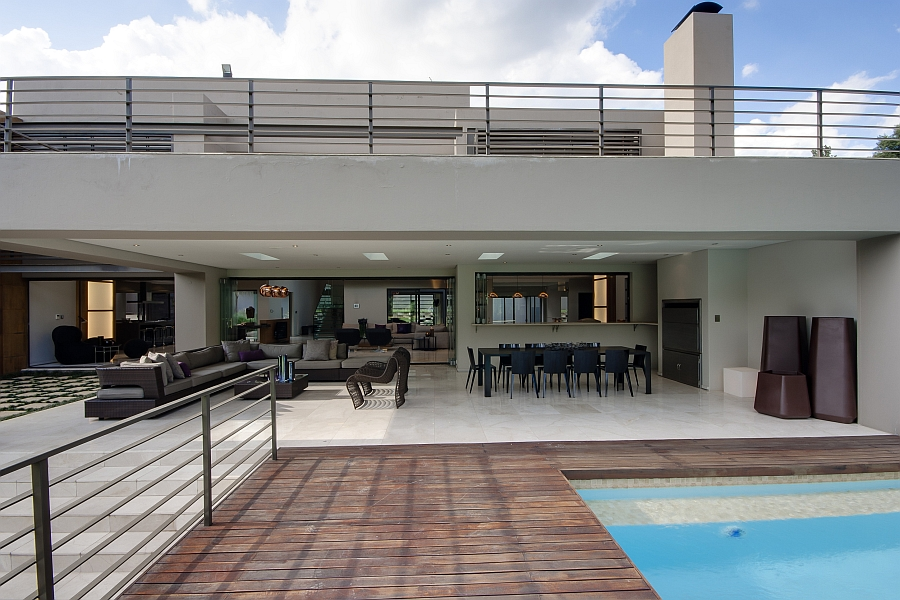 Open deck area with refreshing pool