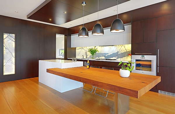 Open plan contemporary kitchen looks stunning