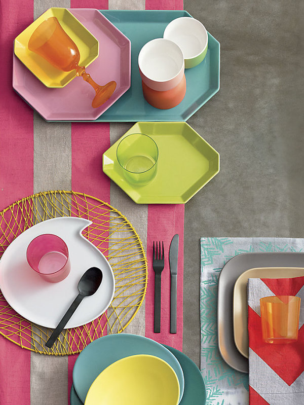 Pastel dinnerware from CB2