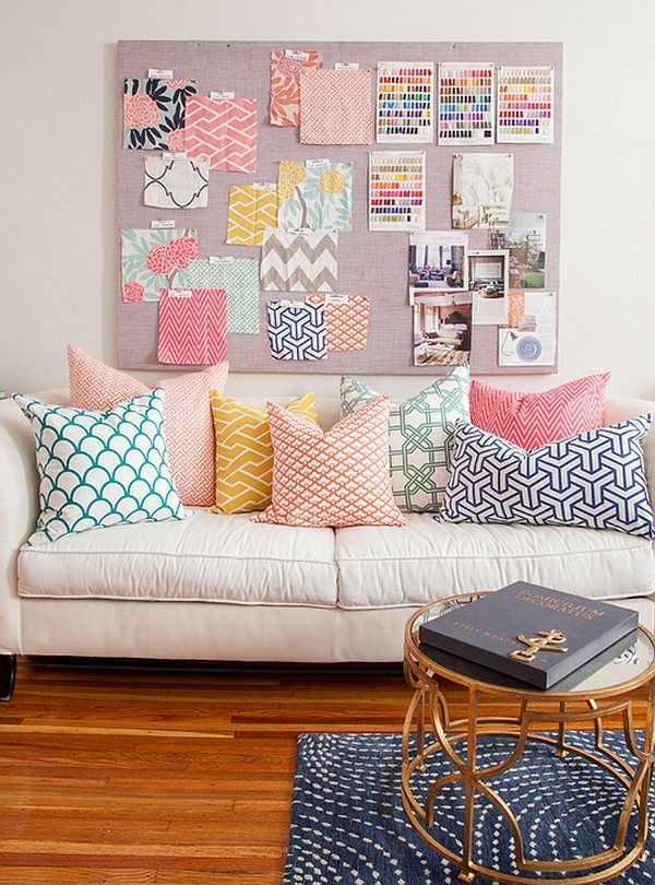 Pastels put together with geometric patterns