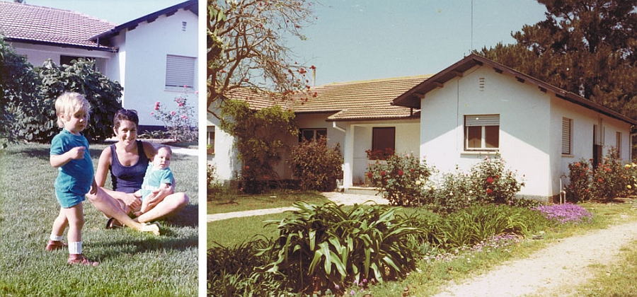 Photo of the house several decades ago