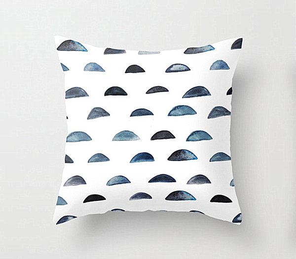 Pillow with a half moon motif