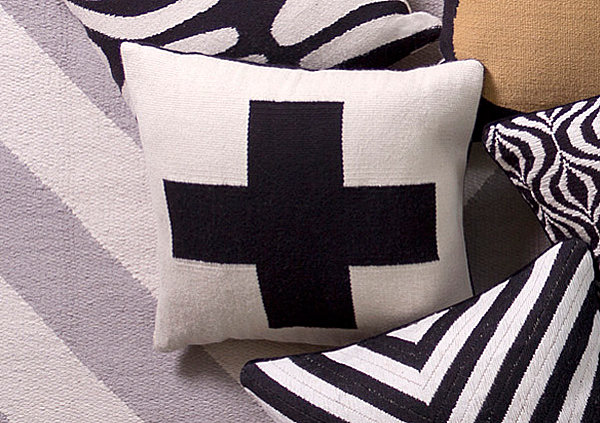 Plus sign pillow from Jonathan Adler