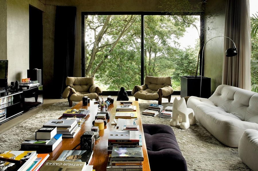 Plush seating space inside the living room