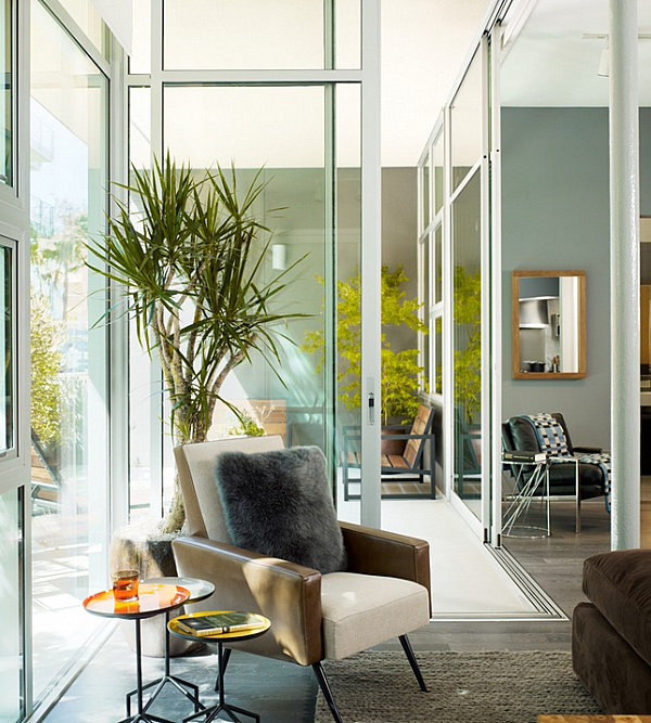 View In Gallery Potted Dracaena By An Armchair