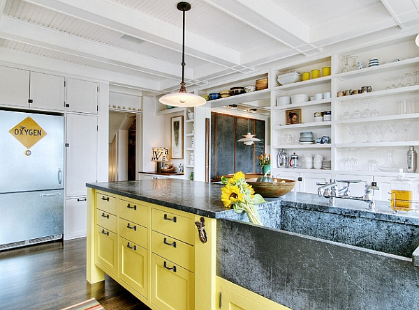 Refreshing splurge of yellow brightens the space