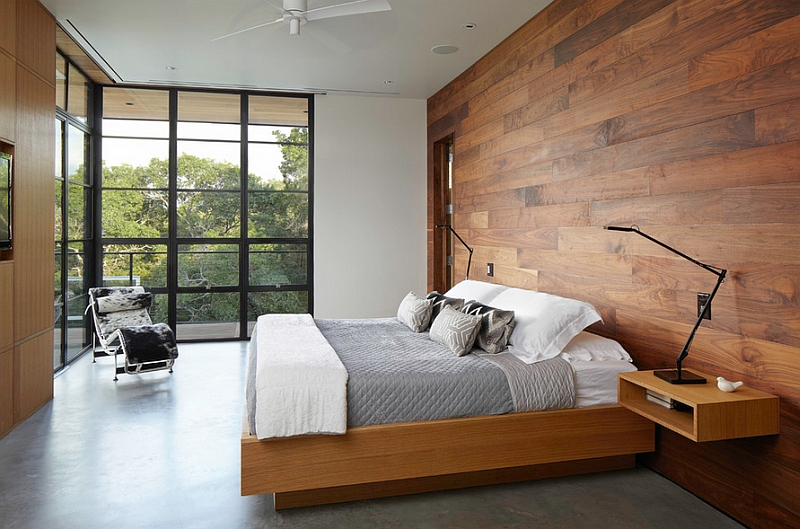 Replace paint with wood in the bedroom