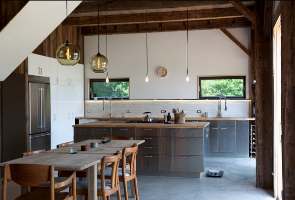 Rustic Stainless Steel Kitchen Design
