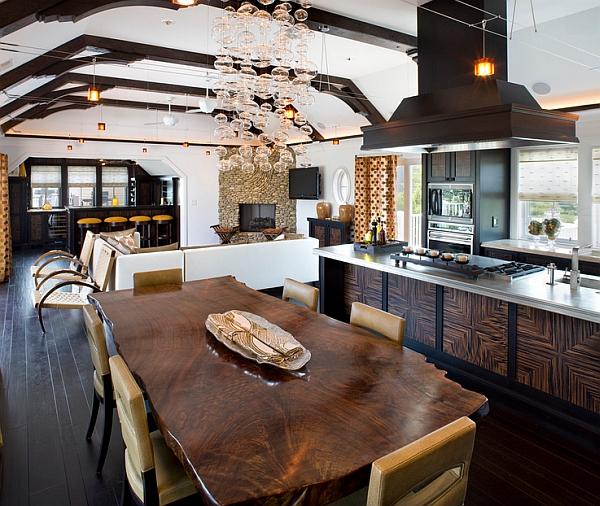 Salvaged wood dining table idea