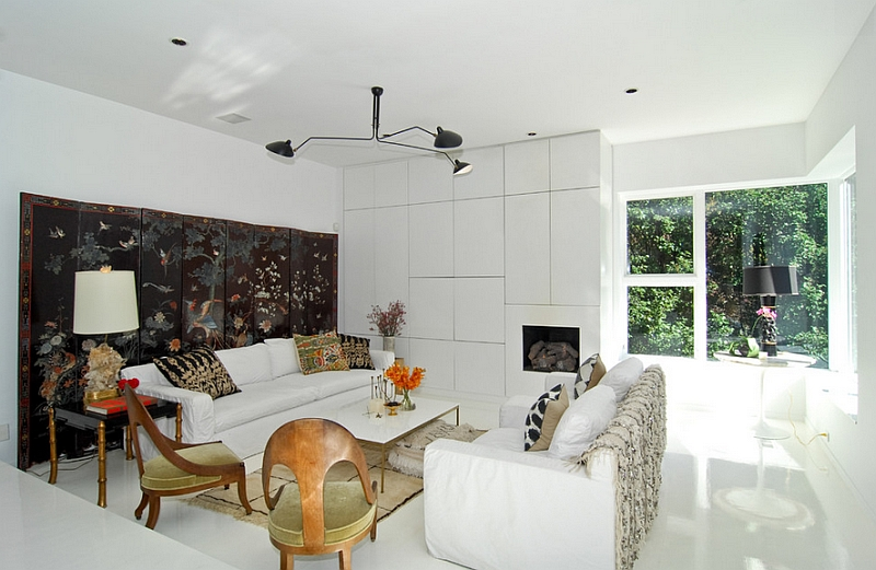 Serge Mouille Ceiling Lamps are perfect for homes with pristine white interiors