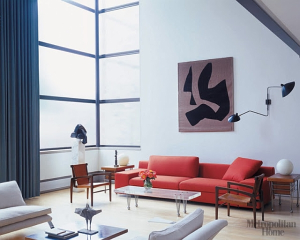 Serge Mouille wall lamp in the contemporary living room