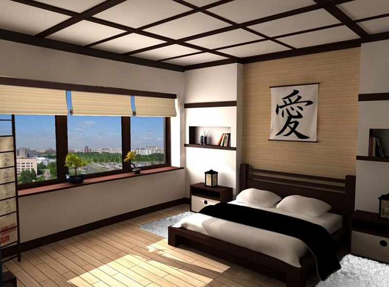 View In Gallery Simple, Clean Lines Define Teh Asian Style Bedroom