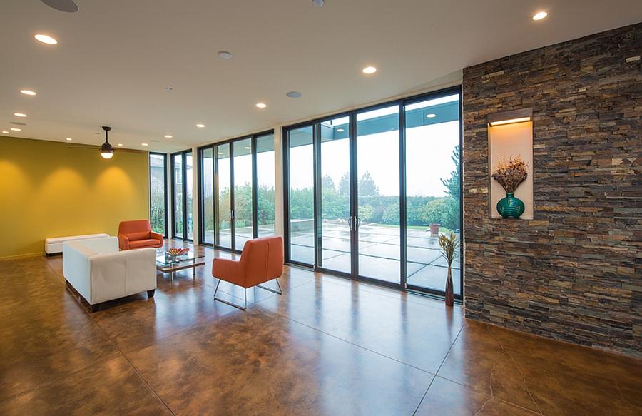 Spacious interior with minimal decor