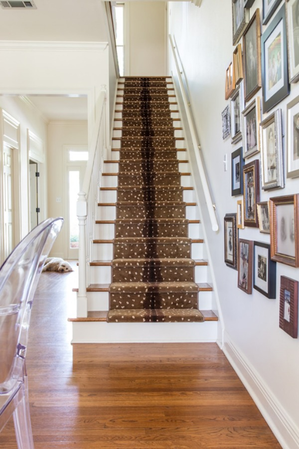 Fabulous stair runners Antelope pattern carpet