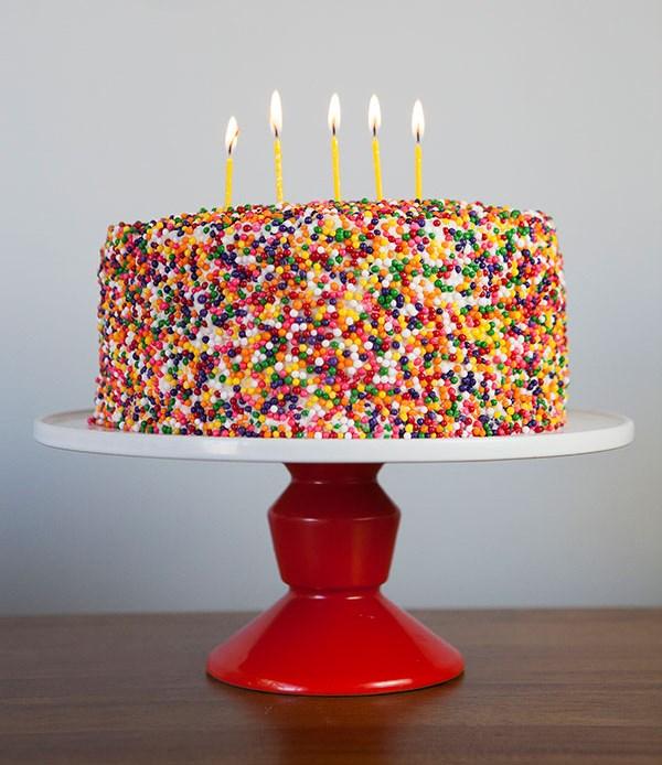 Sprinkle cake idea