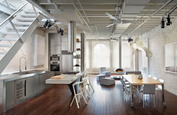 Stainless Steel Kitchen Design - Industrial