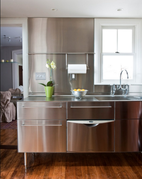 View In Gallery Stainless Steel Kitchen Design