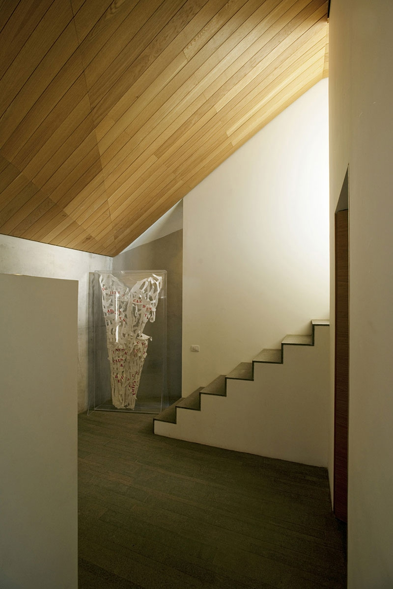 Staircase leading to the bedrooms