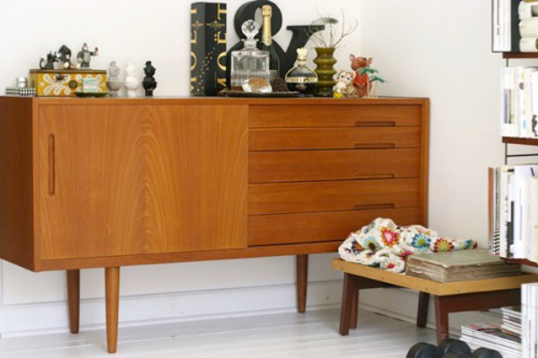 Styled teak sideboard