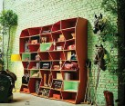 Stylish ZigZag Bookshelf by Henrique Steyer for Florense