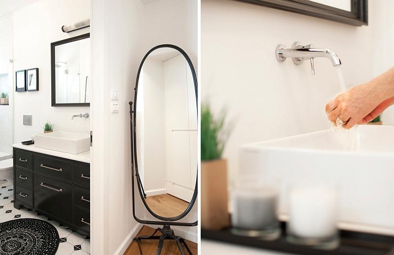 Stylish contemporary bathroom in white