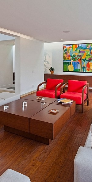 Stylish contemporary living room idea
