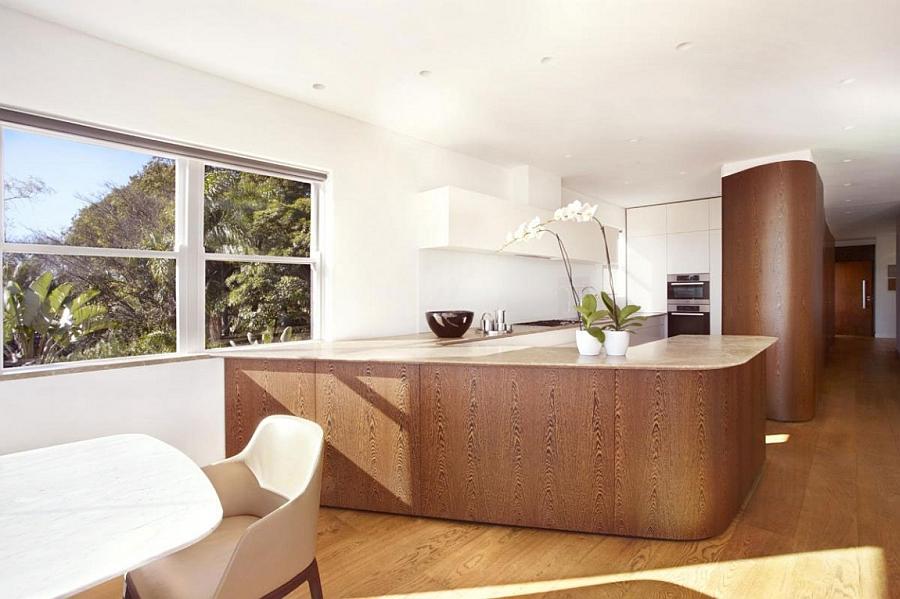 Stylish modern kitchen in white