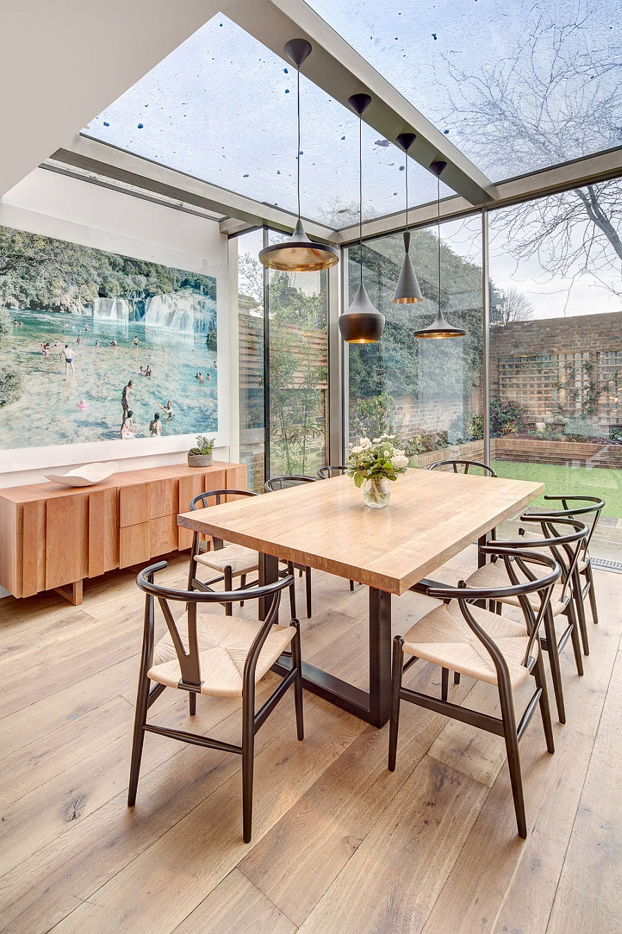 Sun room styled addition to the kitchen