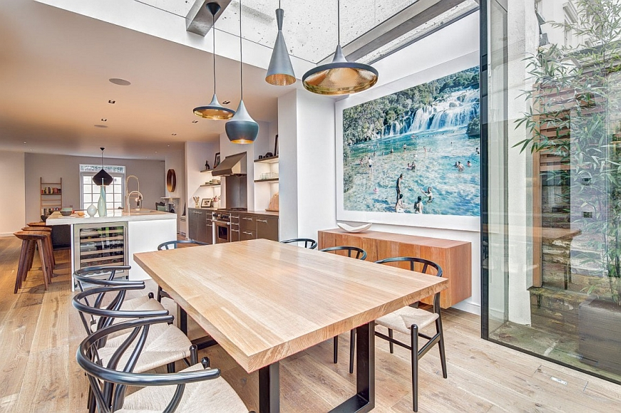 Kitchen Table Pendant Lighting View In Gallery Tom Dixon Lights Above The Dining