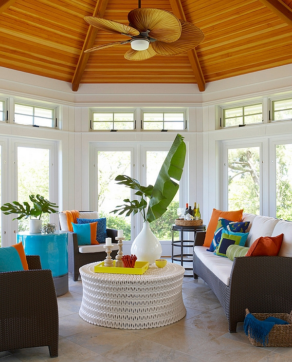 Tropical style porch idea spring decoration trends The ultimate and best spring decoration trends: colorful apartments Tropical style porch idea