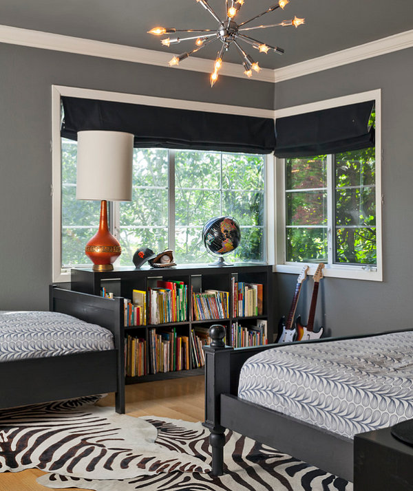 Vintage-meets-modern bedroom