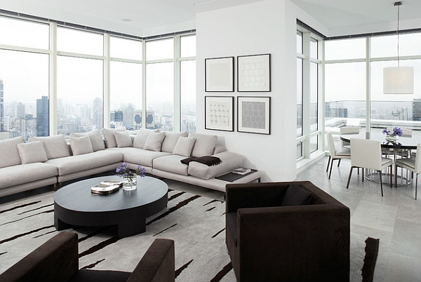 50 minimalist living room ideas for a stunning modern home for Minimalist apartment living room