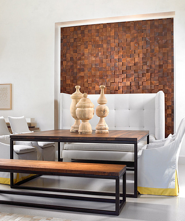 Wall art with wooden squares