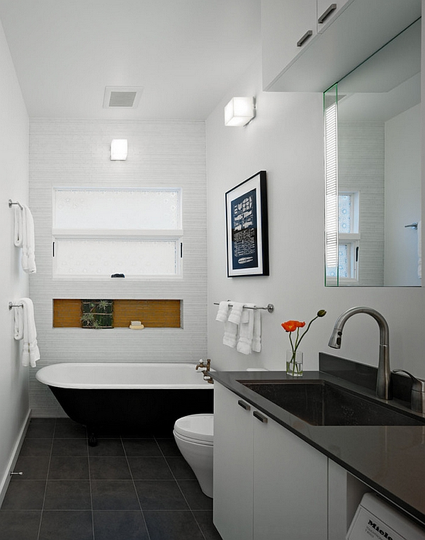 View In Gallery Wall Sconces Help In Even Lighting Of The Bathroom