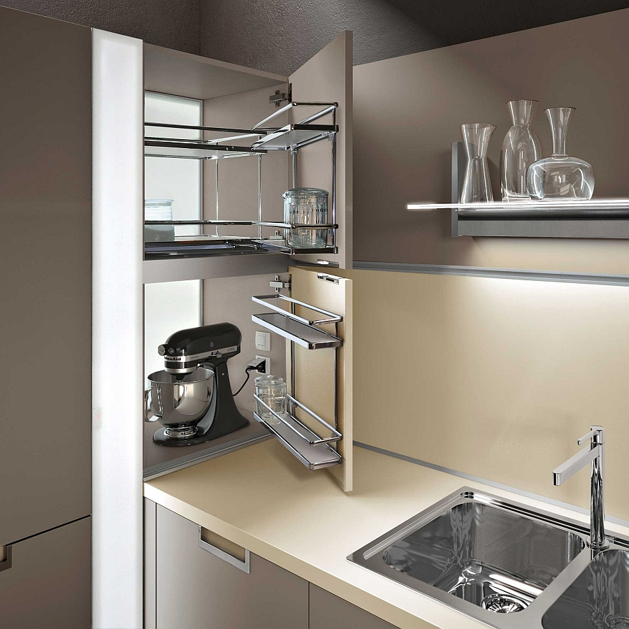 Wall units that hide the kitchenware