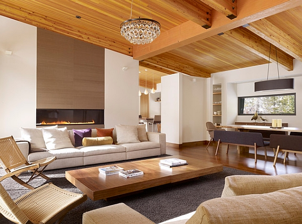 Wood adds warmth to the minimal setting