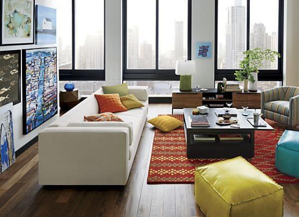 Yellow leather floor cushion.jpg