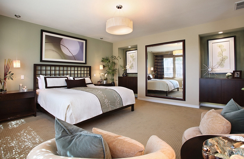 Zen inspired bedroom draws inspiration from nature by international custom designs
