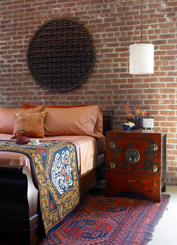 wooden bedroom sidetable for asian-themed bedrooms