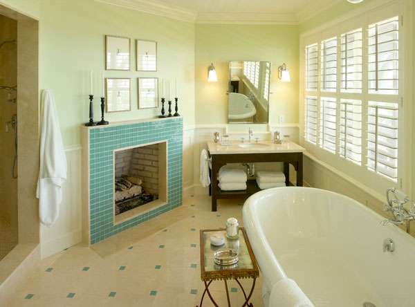 Sansdtone floors for the modern bath