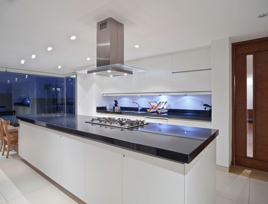 beautiful kitchen with contemporary appliances