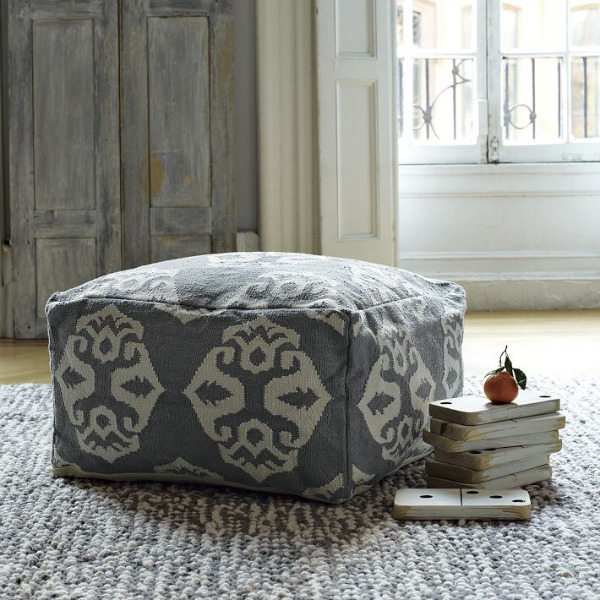 grey and white floor cushon.jpg Have a Seat: 10 Floor Cushions That Will Make You Want To!